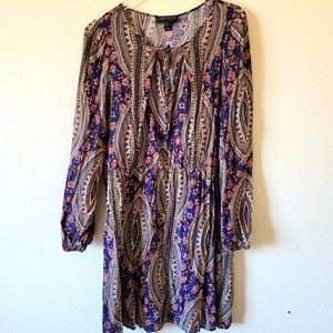 Forever 21+ Plus Size Long Sleeve Boho Midi Dress